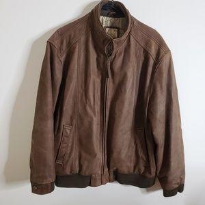 Jos. A. Bank Leather Jacket, Size XL